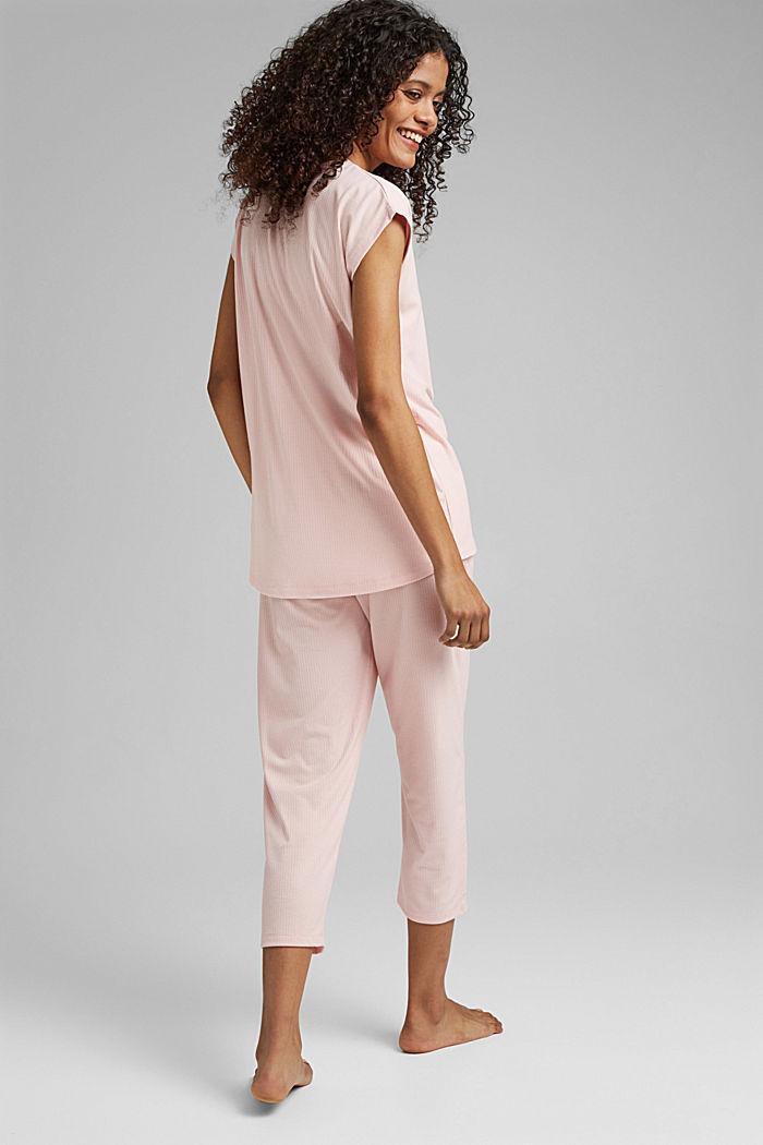Jersey-Pyjama mit LENZING™ ECOVERO™, LIGHT PINK, detail image number 2