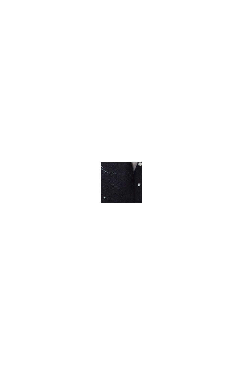 Top da bikini senza ferretto con stampa e mesh, BLACK, swatch