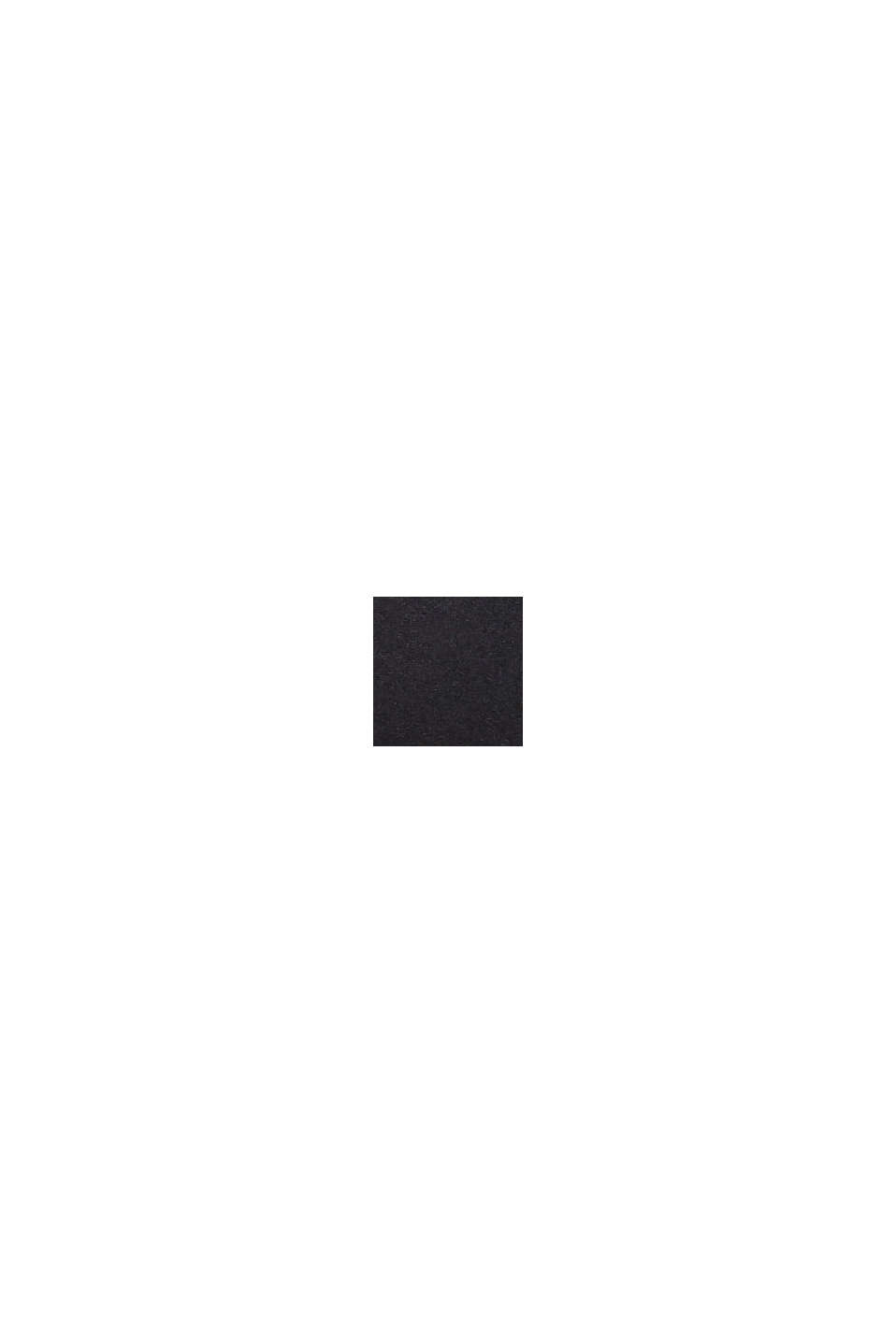 Top senza ferretto con stampa e mesh, BLACK, swatch