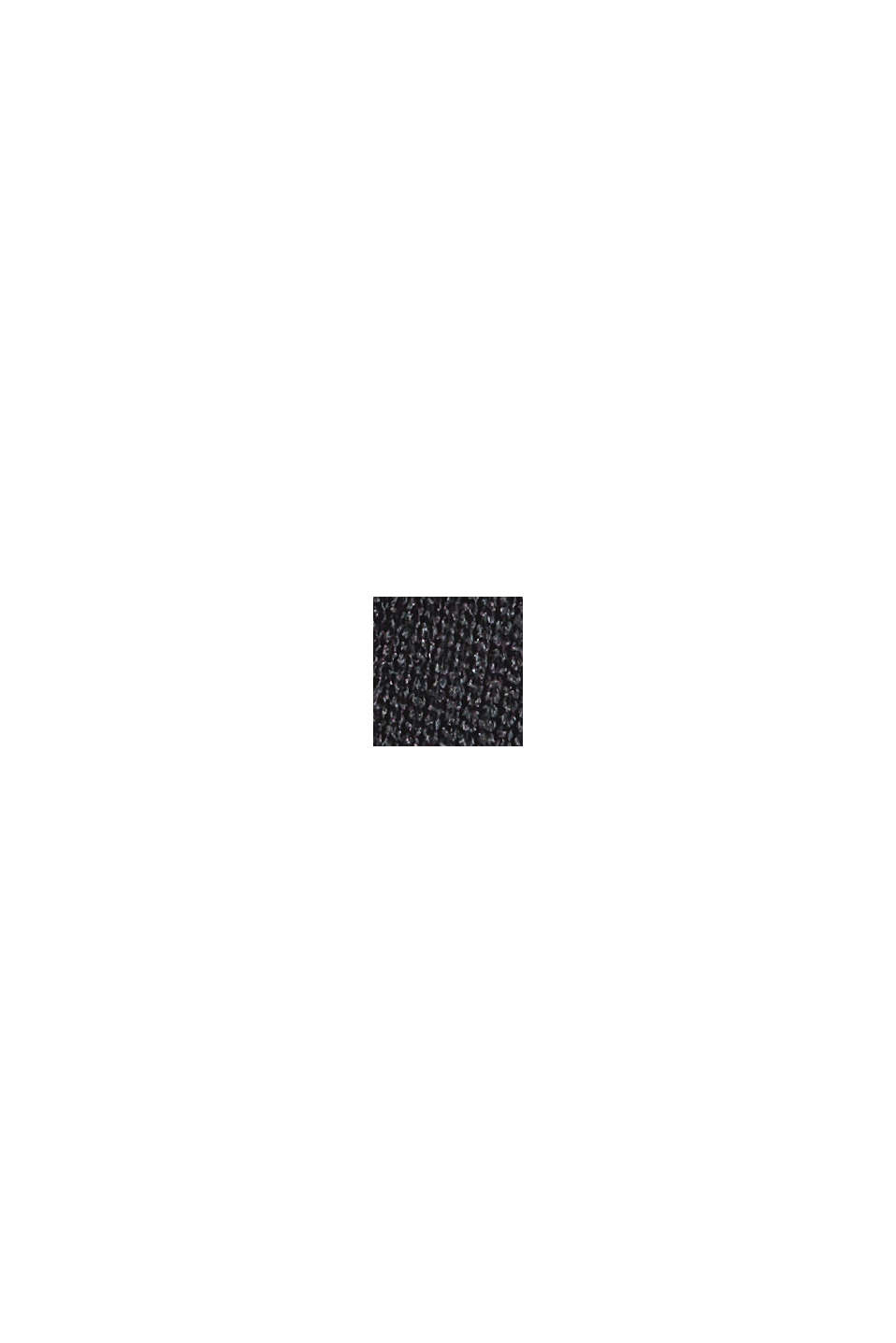 Top da nuoto a manica lunga con stampa e mesh, BLACK, swatch