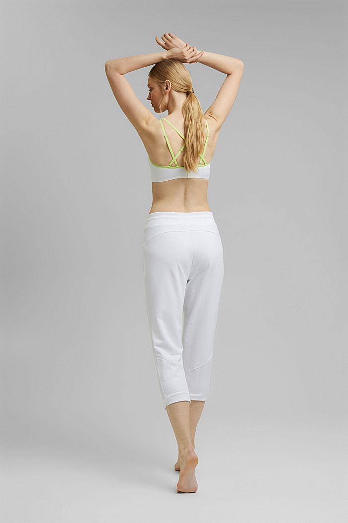 Capri-Sweathose mit Mesh, Organic Cotton, WHITE, detail image number 3