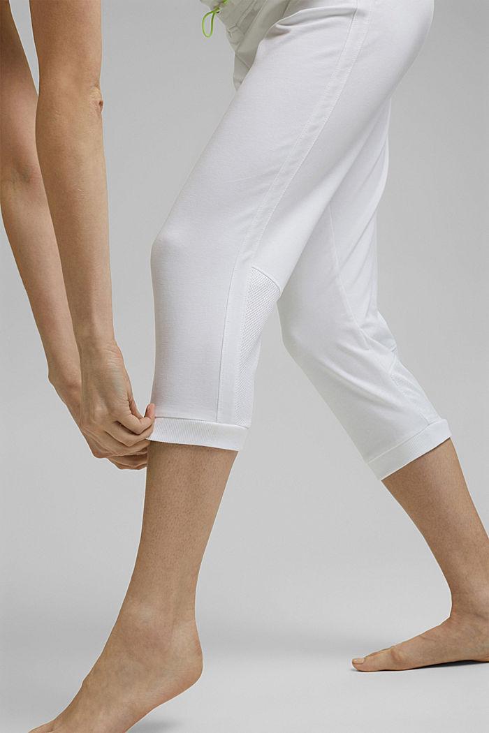 Capri-Sweathose mit Mesh, Organic Cotton, WHITE, detail image number 5