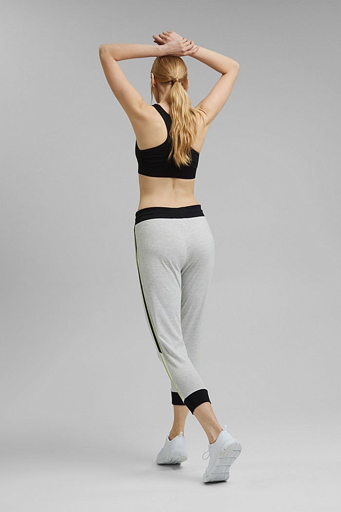 Colour block Capri trousers made of jersey, LIGHT GREY, detail image number 3