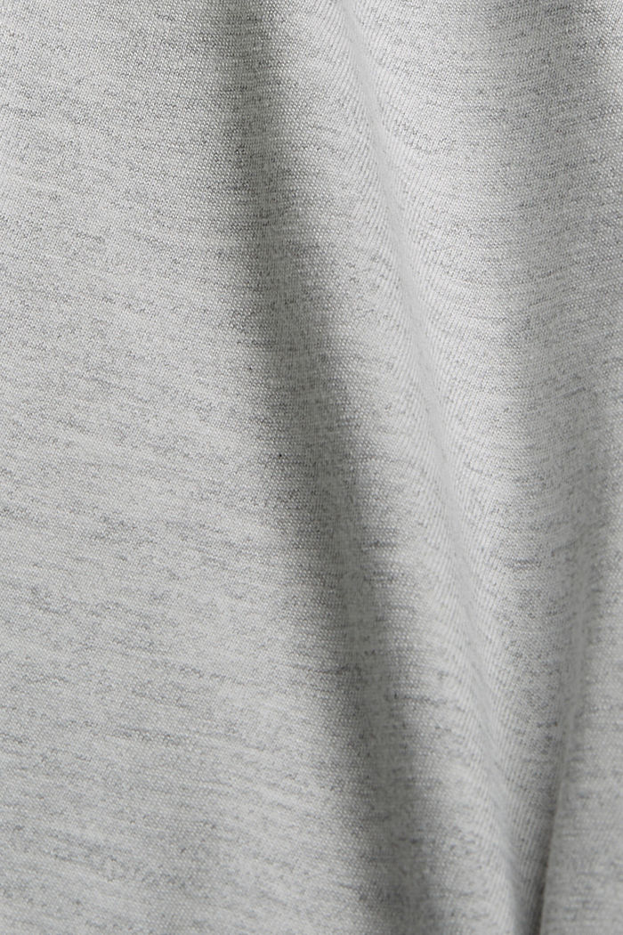 Colour block Capri trousers made of jersey, LIGHT GREY, detail image number 4