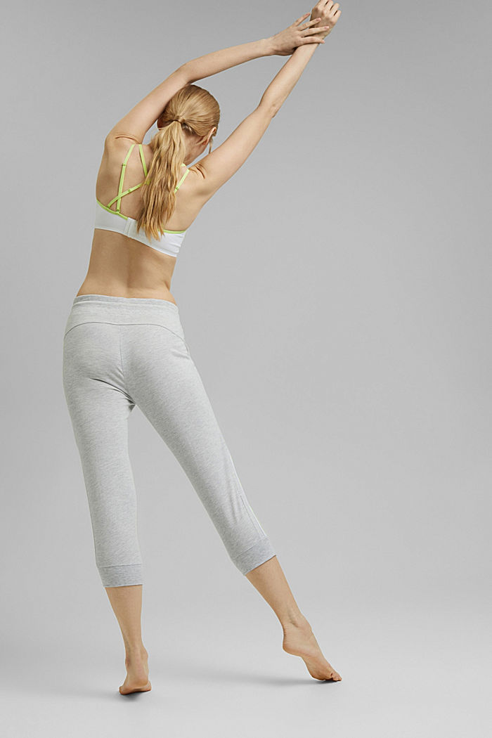 Recycelt: Active-Hose aus Jersey mit Neon-Details, LIGHT GREY, detail image number 3
