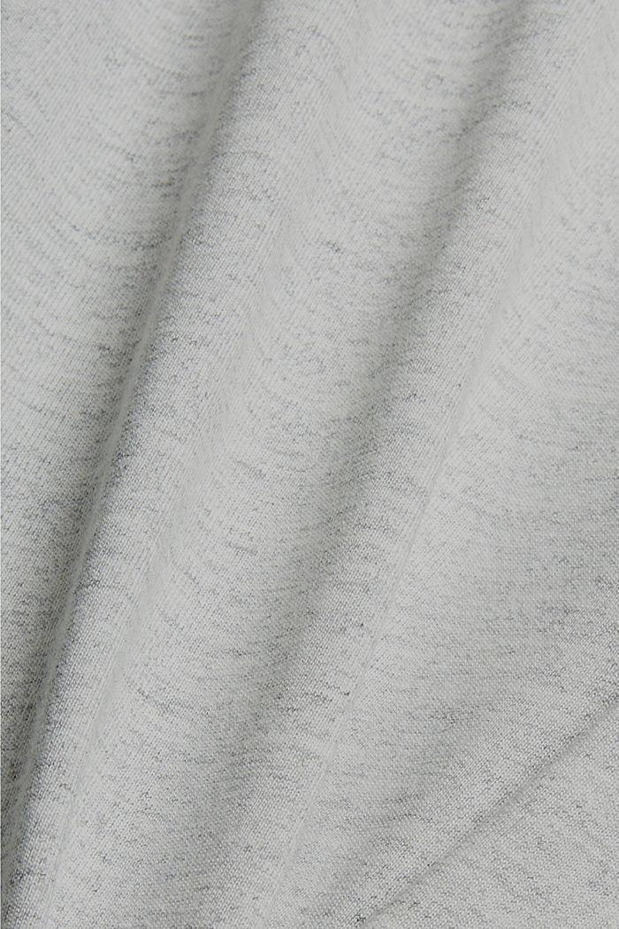 Recycelt: Active-Hose aus Jersey mit Neon-Details, LIGHT GREY, detail image number 4