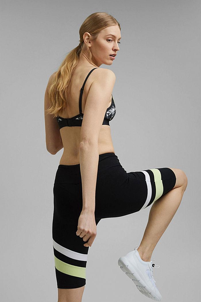 Cyklistické kalhoty s proužky, bio bavlna, BLACK, detail image number 3