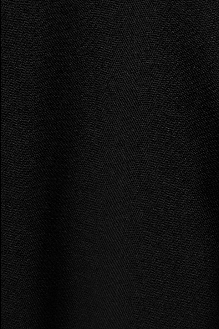 Cyklistické kalhoty s proužky, bio bavlna, BLACK, detail image number 4