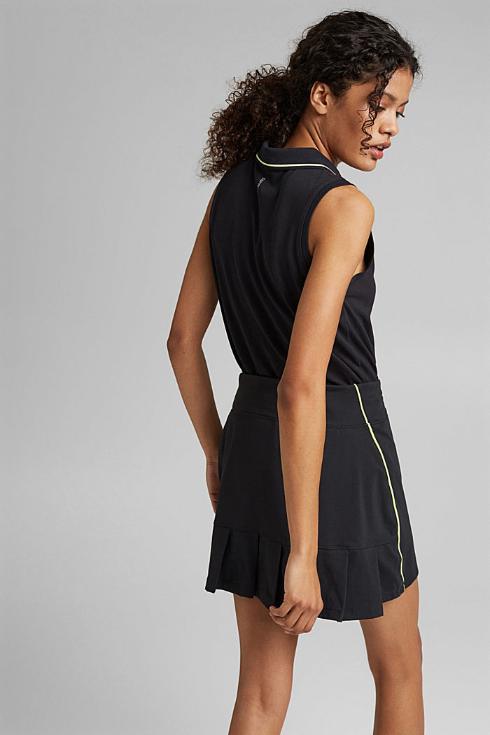 Recycled: TENNIS active skorts with E-DRY, BLACK, detail image number 3