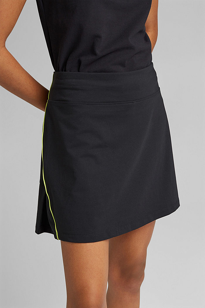 Recycled: TENNIS active skorts with E-DRY, BLACK, detail image number 2