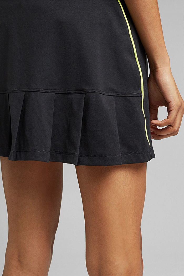 Recycled: TENNIS active skorts with E-DRY, BLACK, detail image number 5