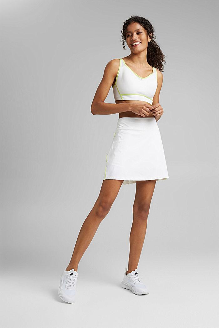 Z recyklovaného materiálu: TENNIS šortky active s úpravou E-DRY, WHITE, detail image number 1