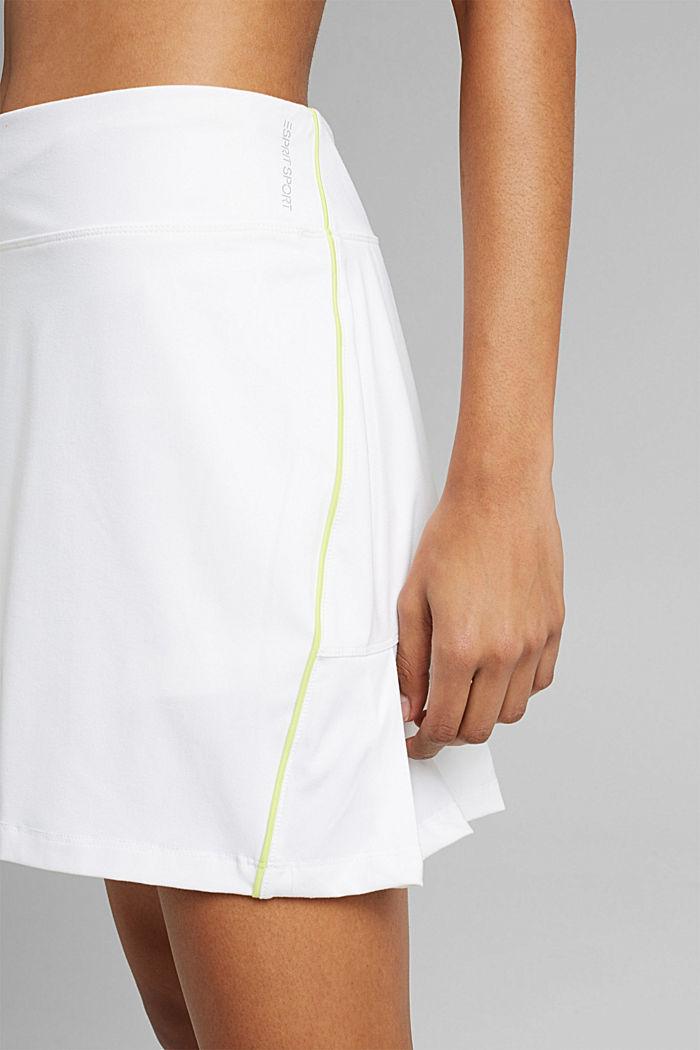 Z recyklovaného materiálu: TENNIS šortky active s úpravou E-DRY, WHITE, detail image number 2