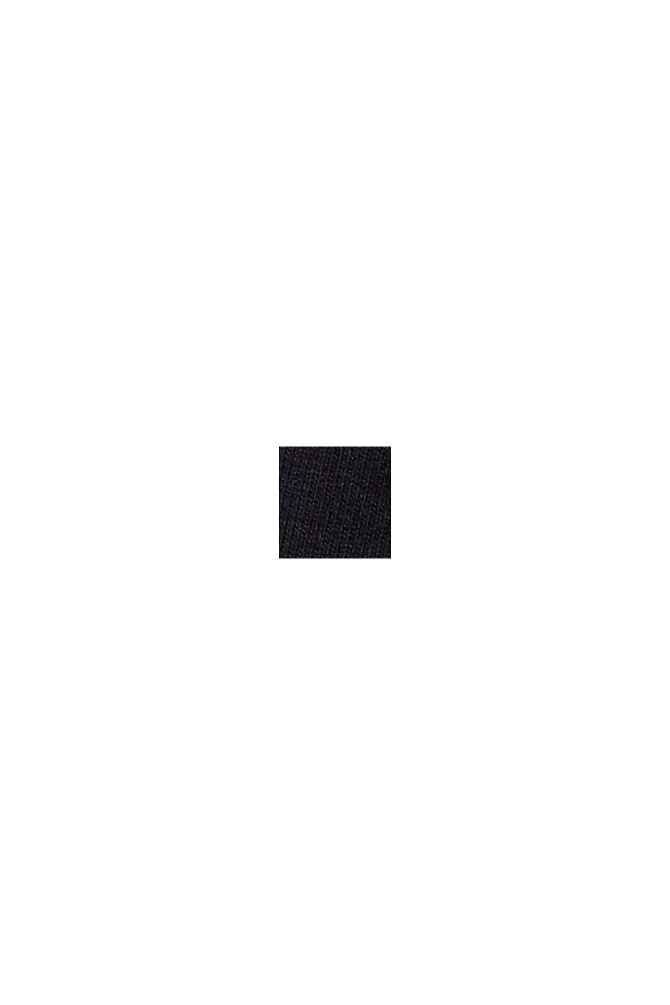 Short molletonné à détails en mesh, coton biologique, BLACK, swatch