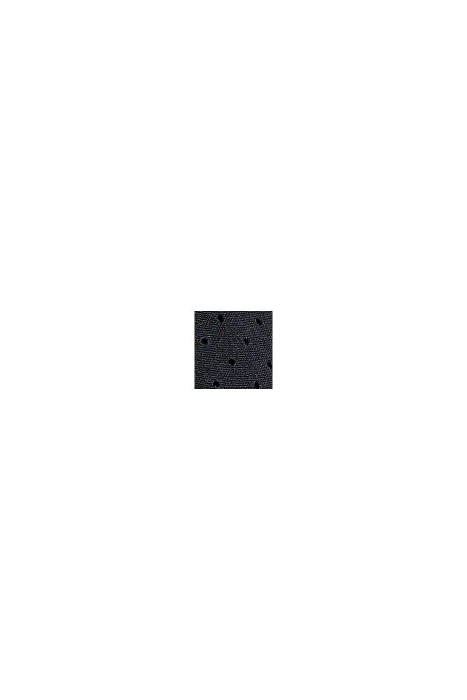Reciclados: shorts, efecto de doble capa, BLACK, swatch