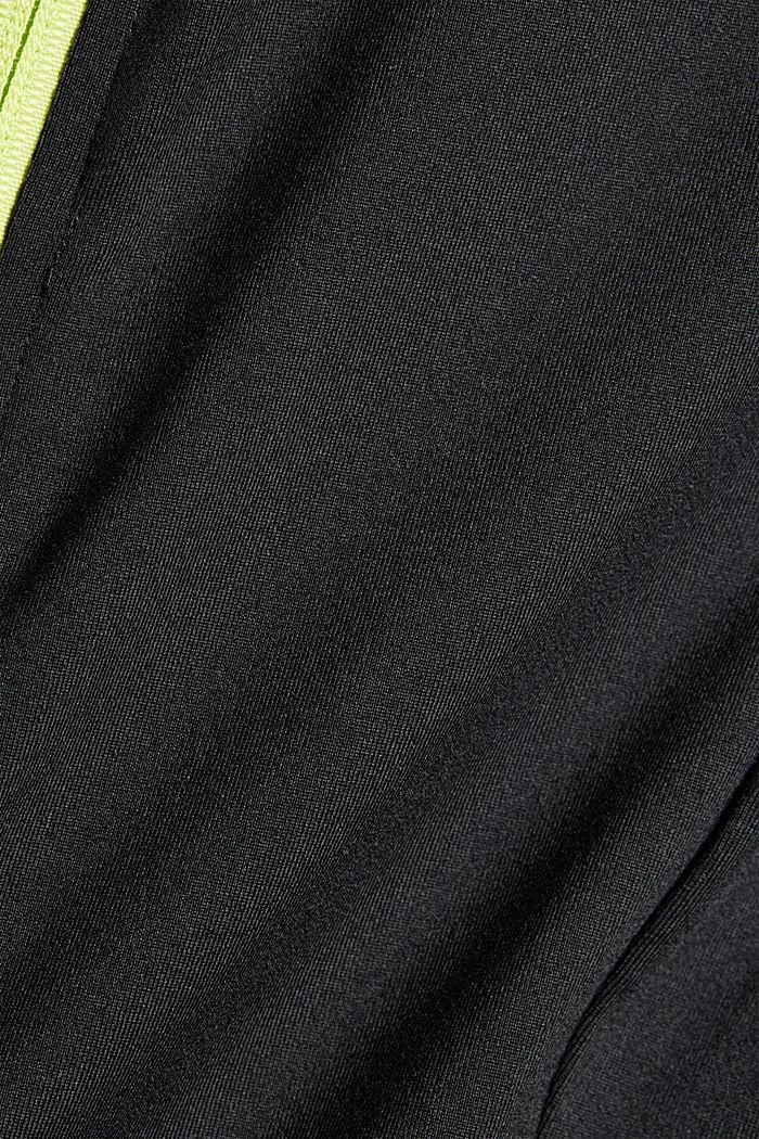 Gerecycled: TENNIS-vest met rits en E-DRY, BLACK, detail image number 4