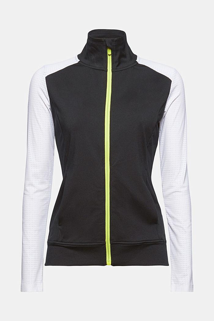 Recycelt: TENNIS Zipper-Cardigan mit E-DRY