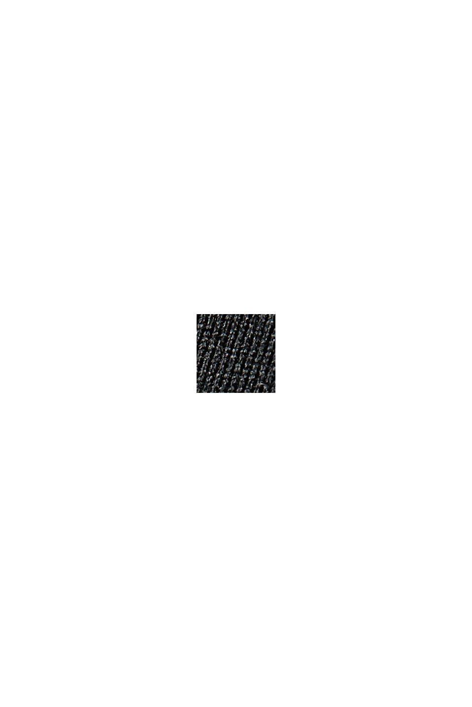 Recycelt: TENNIS Zipper-Cardigan mit E-DRY, BLACK, swatch
