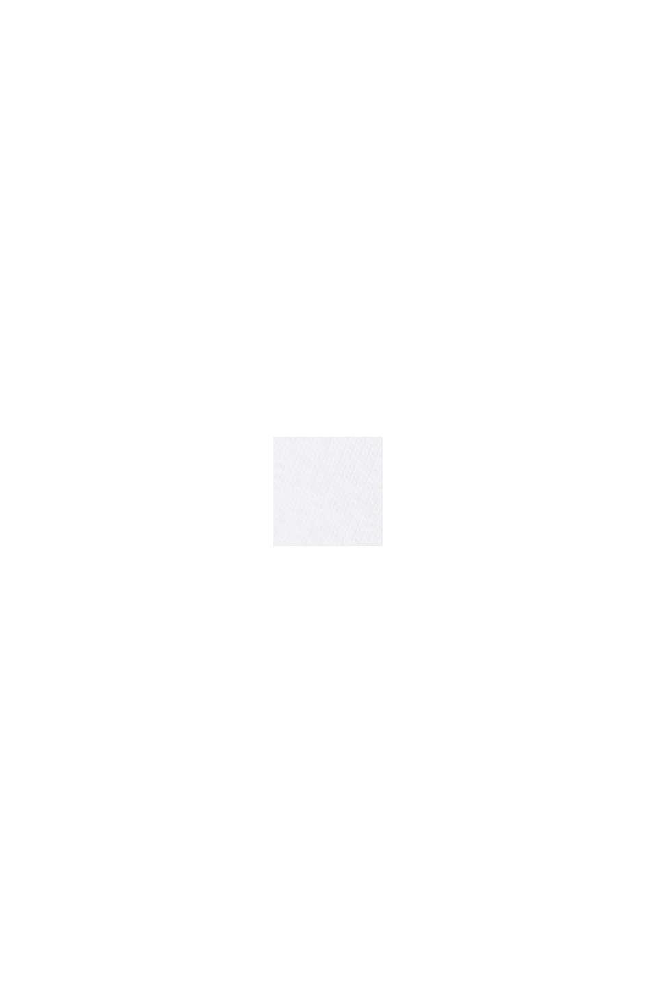 Zipp-Sweatjacke mit Mesh-Detail und Bio-Baumwolle, WHITE, swatch