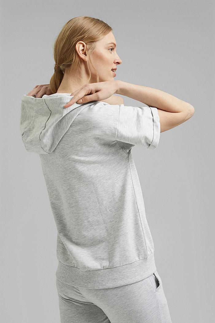 Sweatshirt met korte mouwen, van een mix van biologisch katoen, LIGHT GREY, detail image number 3