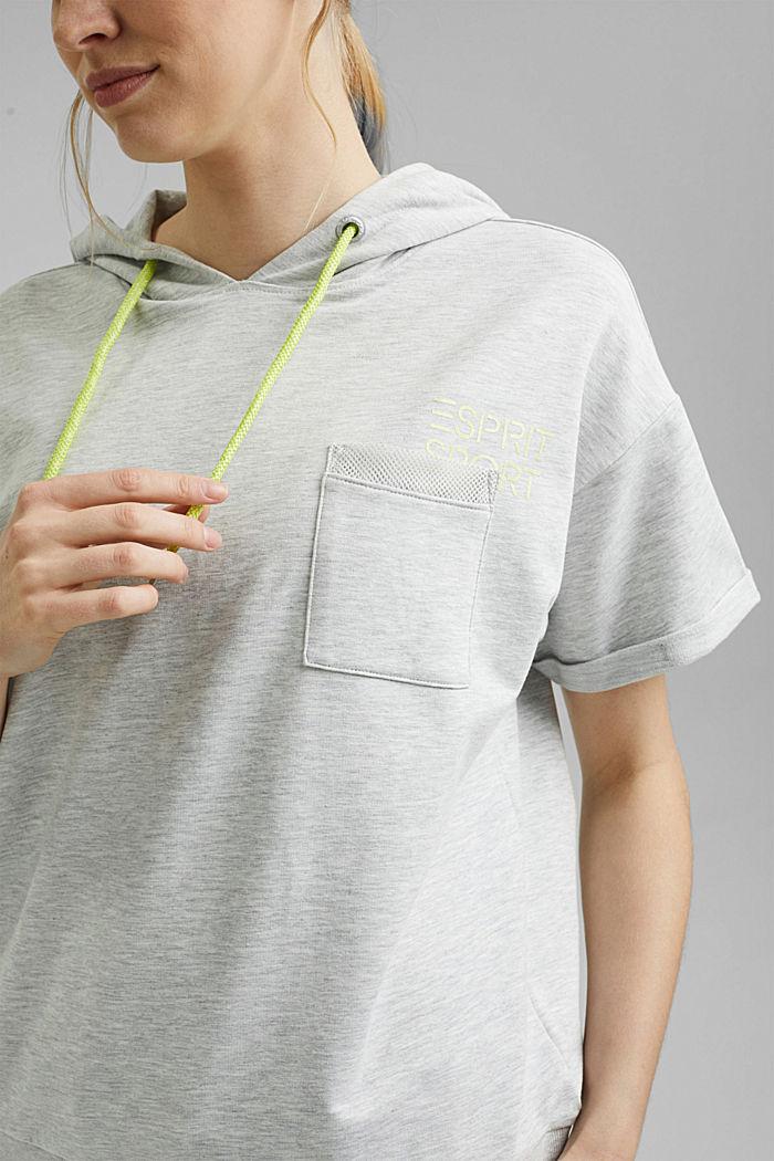 Sweatshirt met korte mouwen, van een mix van biologisch katoen, LIGHT GREY, detail image number 2