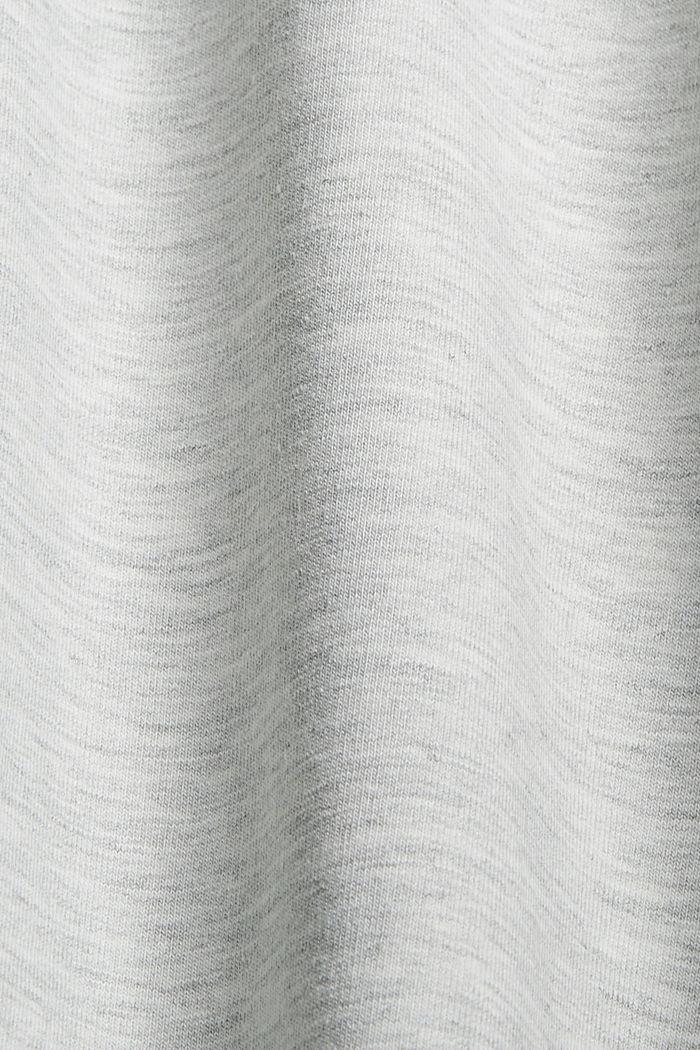 Sweatshirt met korte mouwen, van een mix van biologisch katoen, LIGHT GREY, detail image number 4