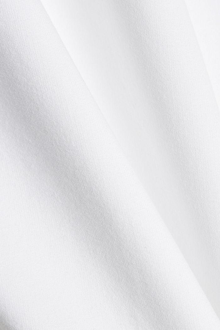 TENNIS mikina z bio bavlny, WHITE, detail image number 4