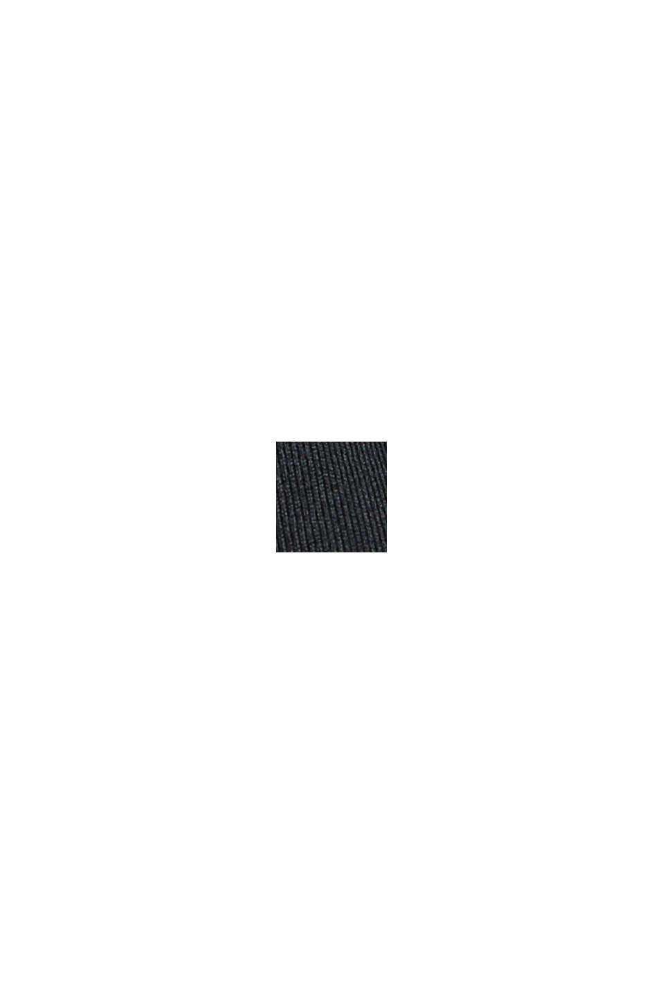 In materiale riciclato: top con taglio laser, E-DRY, BLACK, swatch