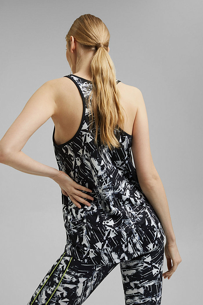 Recycled: oversized active top with E-Dry, BLACK, detail image number 3