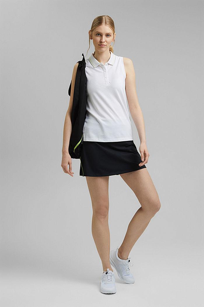 TENNIS Piqué-Poloshirt mit Organic Cotton, WHITE, detail image number 1