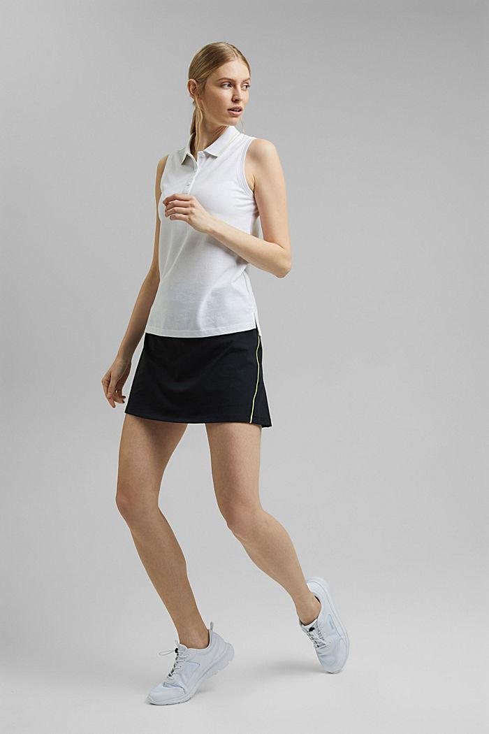 TENNIS Piqué-Poloshirt mit Organic Cotton, WHITE, detail image number 7