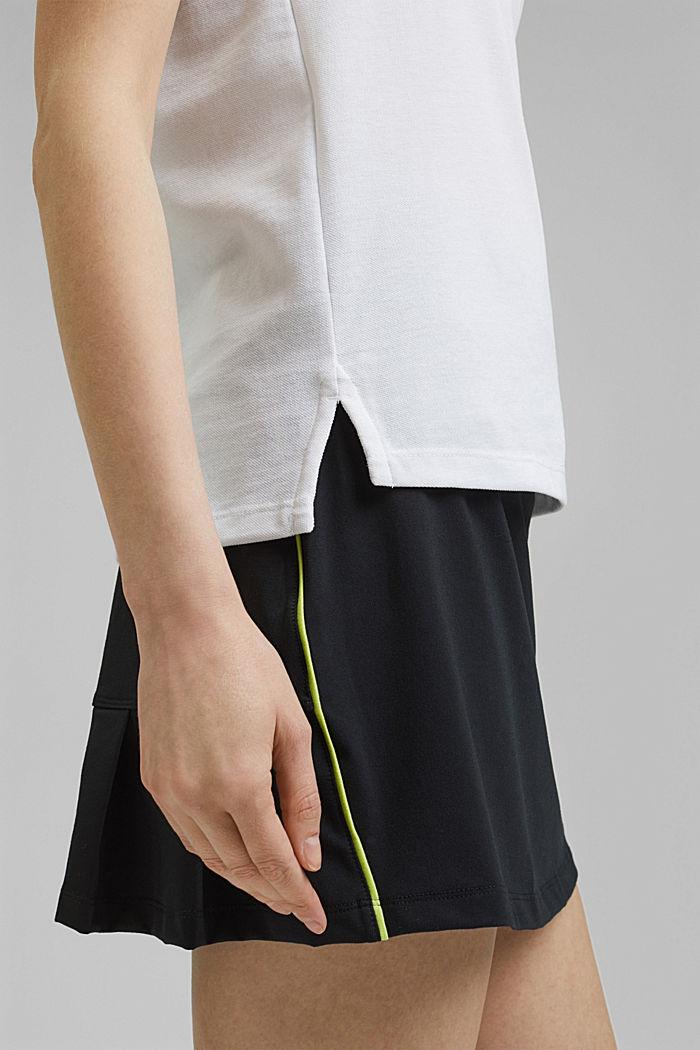 TENNIS Piqué-Poloshirt mit Organic Cotton, WHITE, detail image number 2