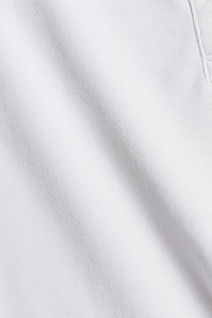 TENNIS Piqué-Poloshirt mit Organic Cotton, WHITE, detail image number 4
