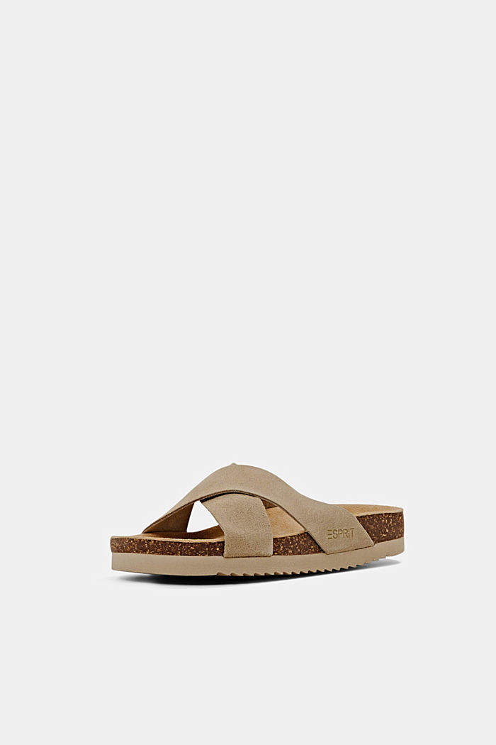 Pelle: sandali con cinturini incrociati, LIGHT BEIGE, detail image number 2