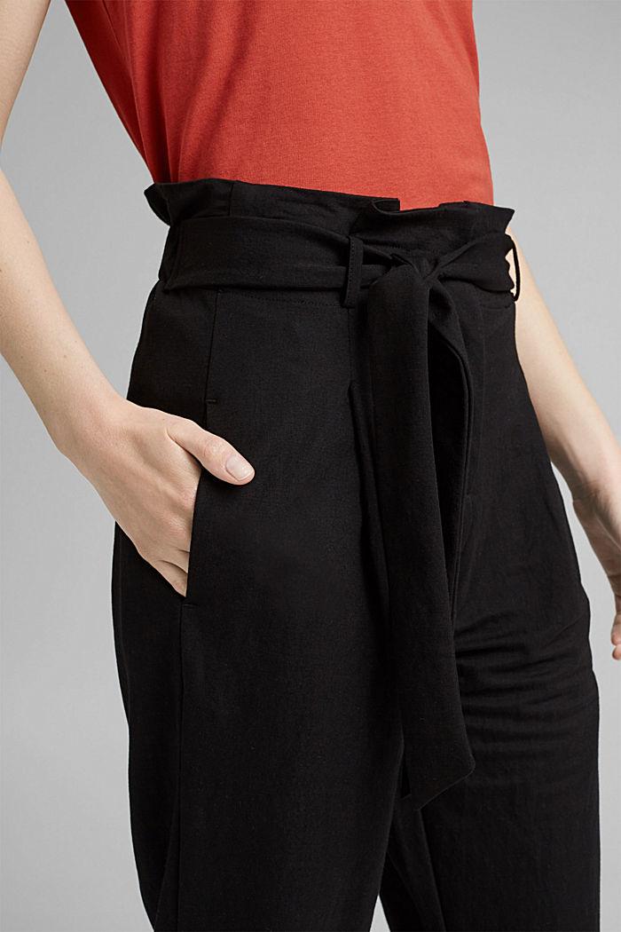 Kalhoty piké, z materiálu LENZING™ ECOVERO™, BLACK, detail image number 2