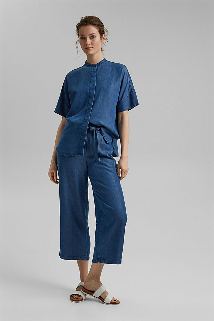 Made of TENCEL™: culottes in a denim look