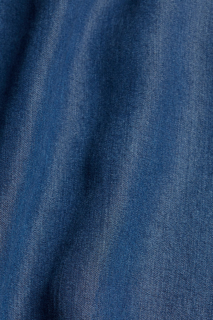 Made of TENCEL™: culottes in a denim look, BLUE MEDIUM WASHED, detail image number 4