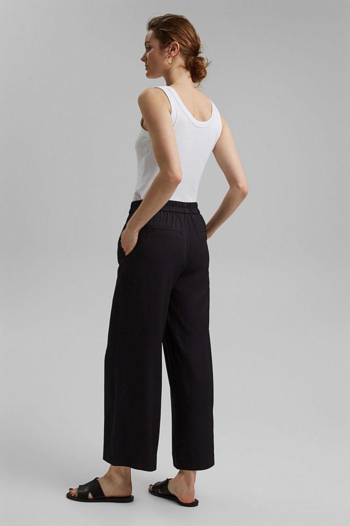 Weite Hose mit elastischem Bund, BLACK, detail image number 3