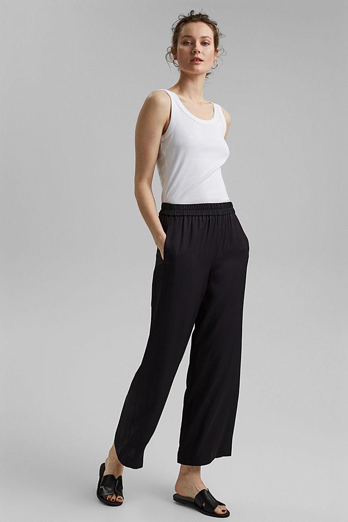 Weite Hose mit elastischem Bund, BLACK, detail image number 5