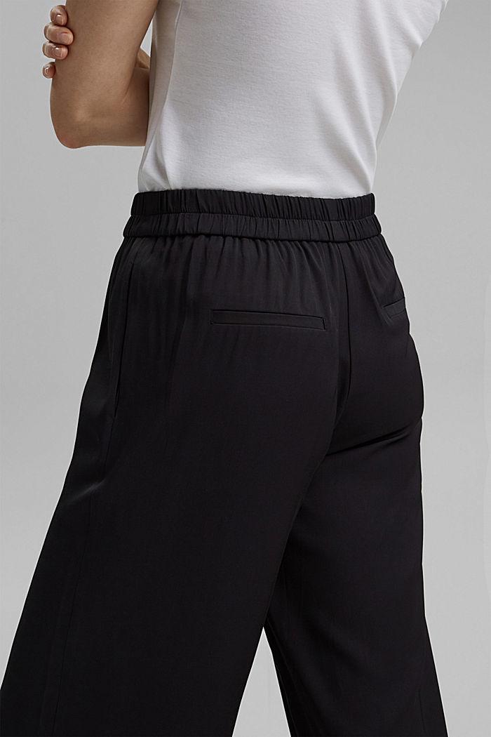Weite Hose mit elastischem Bund, BLACK, detail image number 2