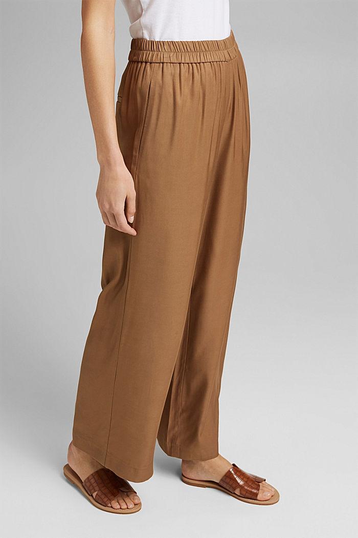 Weite Hose mit elastischem Bund, BARK, detail image number 0