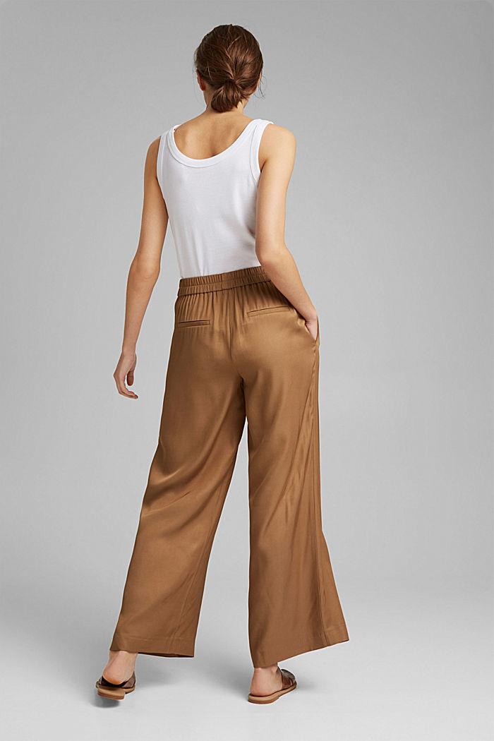 Weite Hose mit elastischem Bund, BARK, detail image number 3