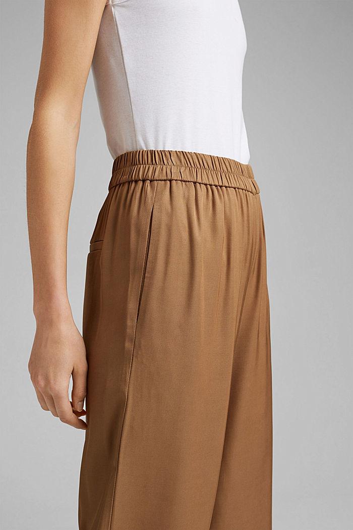 Weite Hose mit elastischem Bund, BARK, detail image number 2