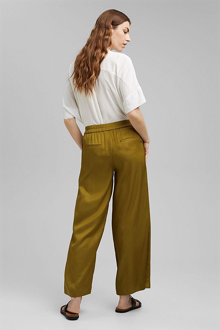 Weite Hose mit elastischem Bund, OLIVE, detail image number 3