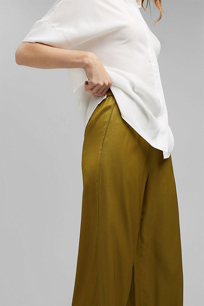 Weite Hose mit elastischem Bund, OLIVE, detail image number 5