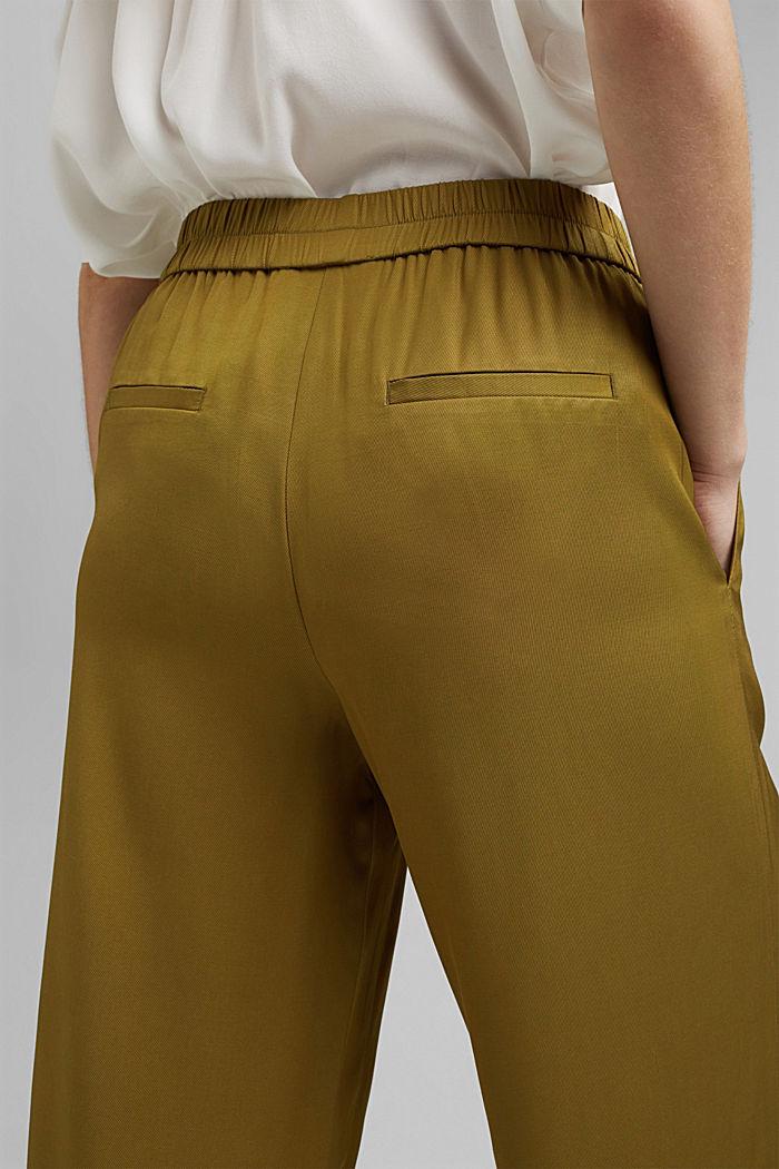 Weite Hose mit elastischem Bund, OLIVE, detail image number 6