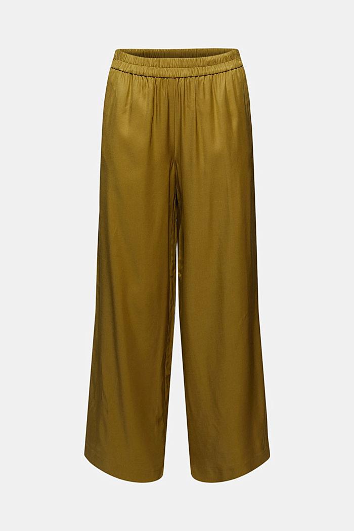 Weite Hose mit elastischem Bund, OLIVE, detail image number 7