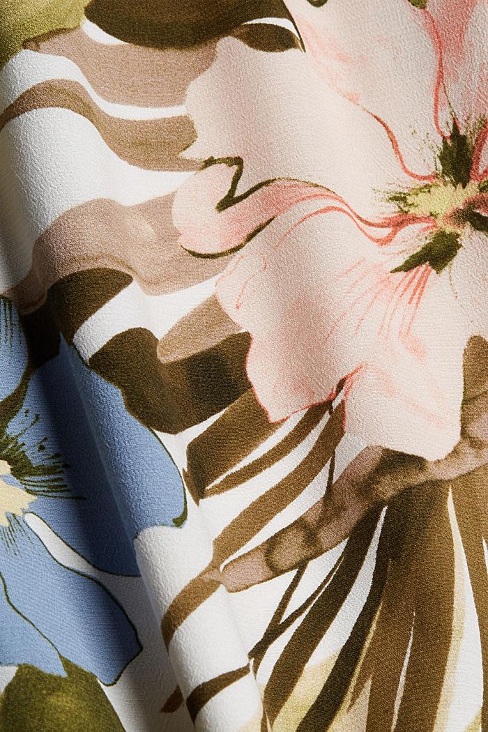 Leveälahkeiset housut, joissa kuminauhavyötärö, OLIVE, detail image number 4