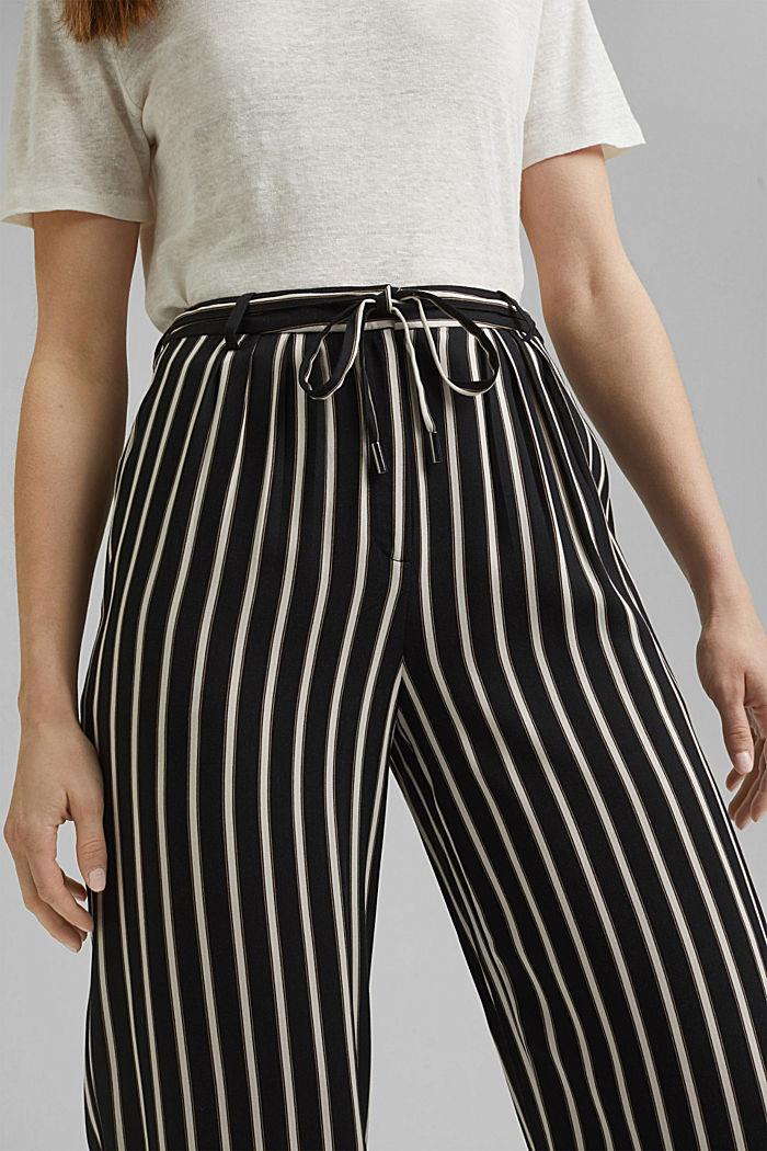 Hose mit weitem Bein, LENZING™ ECOVERO™, BLACK, detail image number 2