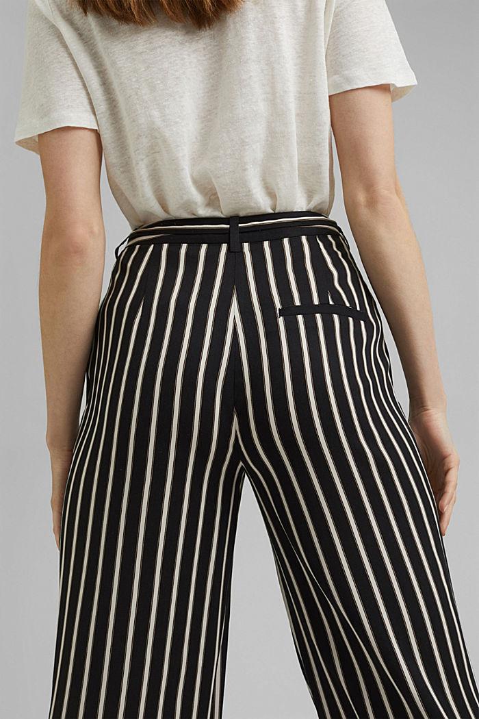 Hose mit weitem Bein, LENZING™ ECOVERO™, BLACK, detail image number 5